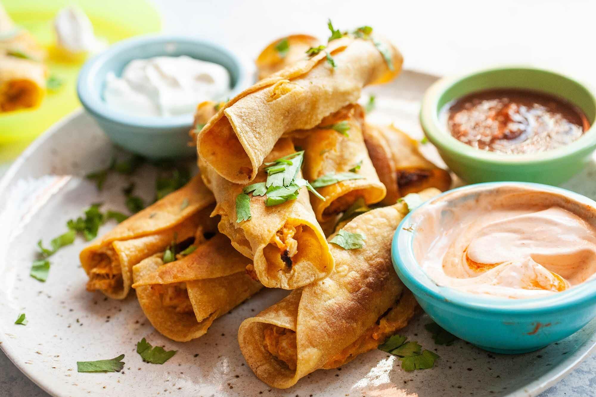 Tacos de pollo al horno